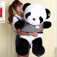 "80cm 32"" Big Size Cute Plush Doll Toy Stuffed Animal Panda Pillow Bolster gift"