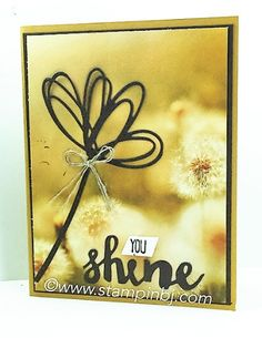 Sunshine Wishes, Stampin' Up!, BJ Peters, Serene Scenery, #sunshinewishes, #serenescenery, #stampinup, #stampinbj.com Scenery Background, Paper Ribbon, Beautiful Handmade Cards, Stamping Up, Paper Decorations, Flower Cards, Stampin Up Cards, Cardmaking, Birthday Cards