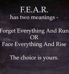Fear had 2 meanings