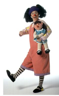 Loonette and Molly the doll from the Big Comfy Couch