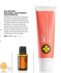 On Guard Toothpaste! Experience The benefits of Natural tooth strengthening, whitening, and overall health in your mouth!