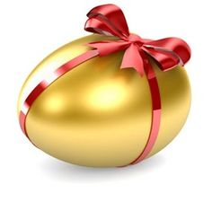 Look at this golden easter egg