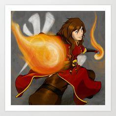 Fire Bending! Art Print by Vadsana - $16.00