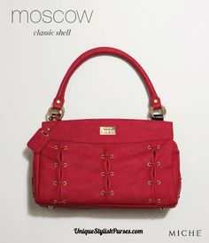 #Miche Moscow's #Luxe #Shell for the #Classic Bag Suede faux leather is soft and luxurious to the touch, yet Miche Moscow's Luxe Shell for the Classic Bag is bold red color is the true show-stopper!