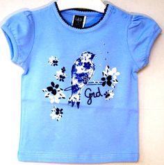 deb2b9b1e Camiseta niña de verano en azul claro estampada de Girandola - Blusas y Camisas  Niñas