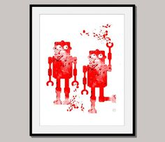ROBOTERS giclee print poster designed for 10 x 8 by interiorart, $17.00