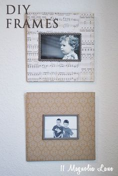 Easy way to make personalized {decoupaged} wall decor from 11 Magnolia Lane.