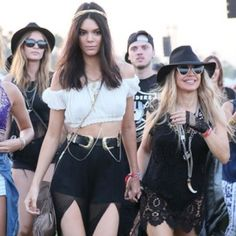 Kendall Jenner slaying the festival game followed by her #squad #WCW
