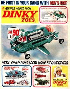 1969 Dinky Toys featuring Gerry Anderson TV series (Joe 90, Thunderbirds and Captain Scarlet)