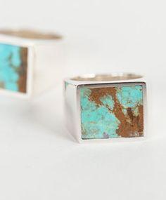 Legier Silver Turquoise Signet ring