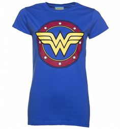 POWsers! This is one hell of a #WonderWoman tee, with a punchy circular logo design with stars, this is one dream tee for any fan of the #DCComics Super-heroine! #Superhero #Fashion #TShirt