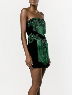 Balmain strapless embellished dress