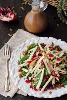 Apple Salad with Apple Cinnamon Vinaigrette