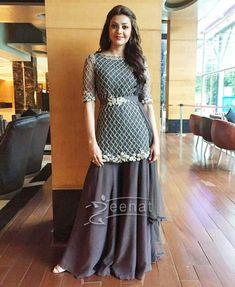 Kajal Agarwal in Ridhi Mehra Palazzo Pants Pakistani Dress Design, Pakistani Outfits, Indian Outfits, Mehendi Outfits, Mehndi, Asian Fashion, Girl Fashion, Fashion Clothes, Fashion Dresses