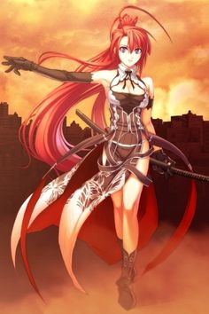 Anime Warrior Girl | Anime Warrior iPhone Wallpaper | iDesign * iPhone