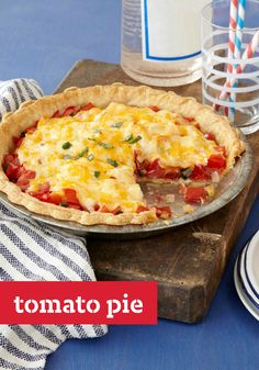 Tomato Pie -- Southerners may take their iced tea sweet, but anything goes when it comes to pie. This savory recipe features fresh tomatoes plus sweet onions and melty cheese.
