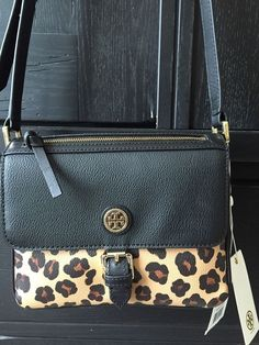 bdab377e2ee TORY BURCH KERRINGTON MINI CROSS-BODY OCELOT LEOPARD BAG HANDBAG NWT # ToryBurch #MessengerCrossBody