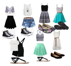 """""""Summer outfit"""" by neilm-1 on Polyvore featuring River Island, FRACOMINA, American Apparel, MANGO, LE3NO, Converse, Sole Society, Accessorize and Havaianas"""