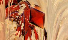 © Tânia Filipa Pais de Oliveira   Fotografia de um cristal de proteína obtido pela técnica de difusão de vapor. No grupo de Cristalografia Macromolecular no ITQB - Universidade Nova de Lisboa. O cristal obtido é da enzima oxido-reductase de aldeído, e a cor vermelha é devida à presença de centros de ferro enxofre e molibdopterina. Esta proteína foi isolada da bactéria Desulfovibrio gigas, e é um membro da família das xantinas oxidases, envolvidas no Síndroma de Gout (doença da gota).