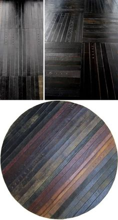 Using Leather Belts for Flooring