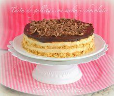 Tarta de Galletas con Moka y Chocolate ~ Postres Fáciles y Ricos
