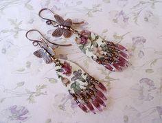 Floral Tin Earrings by qisma @ Etsy, Boho earrings, Bohemian jewelry
