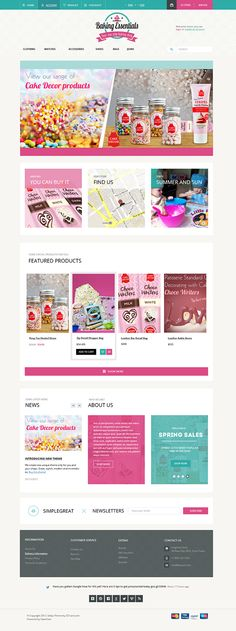 Bakery Website Home on Behance Bakery Website, Online Bakery, Homepage Design, Website Design Inspiration, Heart And Mind, Behance