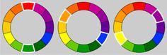 colores complementarios o opuestos
