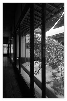 A beautiful illustration of the Japanese aesthetic ... melding indoor and outdoor space.