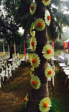 Tree Decor with Tender coconut Leaves..