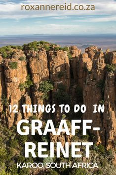 12 things to do in Graaff-Reinet in South Africa's Eastern Cape Karoo. Find out more about Graaff-Reinet museums, Graaff-Reinet restaurants, Karoo food, Graaff-Reinet accommodation, Camdeboo National Park, the Valley of Desolation Graaff-Reinet, Nweba Dam, Obesa cactus nursery, Graaff-Reinet church, Karoo fossils and Helen Martins' Owl House Nieu Bethesda. #travel #roadtrip
