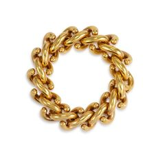 Mann's Jewelers A Retro gold bracelet of interlocking S-link design, in 18k.  Italy.