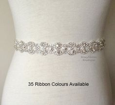 Rhinestone Sash-Wedding Sash-Bridal by RoseybloomBoutique on Etsy