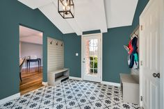 Sep 2019 - Looking for paint color ideas that will give your home that warm and cozy feeling? For Fall Benjamin Moore Olympus Green is a great choice to bring it all together! Great Room Paint Colors, Garage Paint Colors, Garage Color Ideas, Benjamin Moore Bedroom, Cleveland House, Indoor Paint, Green Dining Room, House Paint Interior, Home Upgrades