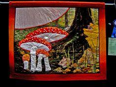 "DSC02820 Mushroom quilt Quilt by Kay D. Haerland Australia ""60 x 48"" Blogged here: godutchbaby.blogspot.com/search/label/Pacific International Quilt Festival"