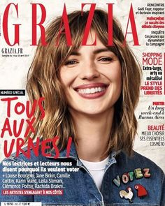 Toujours en kiosque le numéro de la semaine est totalement pleinement résolument... citoyen #graziaenkiosque #présidentielle2017 #presidentielle  via GRAZIA FRANCE MAGAZINE OFFICIAL INSTAGRAM - Fashion Campaigns  Haute Couture  Advertising  Editorial Photography  Magazine Cover Designs  Supermodels  Runway Models