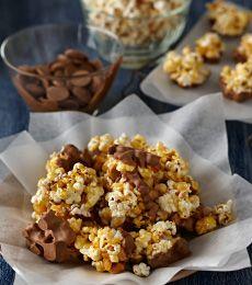 Cadbury Chocolate Dipped Salted Caramel Popcorn Clusters Recipe
