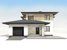 Modern Family House, Modern House Plans, Modern House Design, House Design Pictures, Architectural House Plans, Mediterranean Homes, Facade House, Home Fashion, Future House