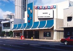Cinerama Theatre (1962-1999), 1550 South King Street, Honolulu, Hawaii, architect Louis Davis. Now an auto parts store.