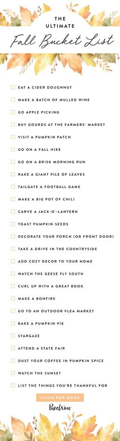 Fall is indisputably the best season ever. Here's your ultimate fall bucket list with all the autumn activities you love. #fallbucketlist #fallthingstodo #fallactivities #autumn #leaves #foliage #bucketlist