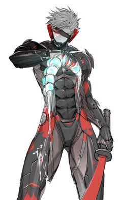 I f**king love metal gear rising wallpapers.raiden looks sooo badass -rules of nature! Character Concept, Character Art, Concept Art, Character Design, Metal Gear Survive, Raiden Metal Gear, Metal Gear Rising, Futuristic Art, Alien Art