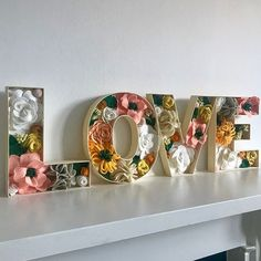These fillable letters from are ready to be embellished or painted. See how I made my wedding version with felt flowers Flower Letters, Diy Letters, Letter A Crafts, Large Letters, Felt Flowers, Paper Flowers, Diy And Crafts, Paper Crafts, Diy Baby Gifts