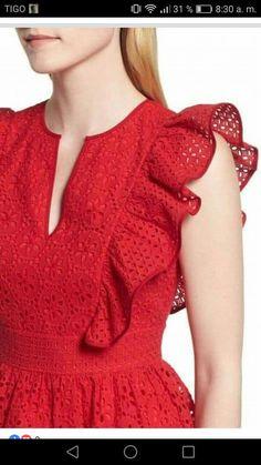 New dress maxi formal red 16 ideas Kurti Sleeves Design, Sleeves Designs For Dresses, Kurti Neck Designs, Dress Neck Designs, Sleeve Designs, Blouse Designs, Simple Dresses, Casual Dresses, Dress Outfits