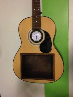 Upcycled Acoustic Guitar Shelf One of a by ThisNThatHodgePodge
