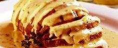 Copie a Receita de Lagarto recheado de queijo ao molho cremoso de laranja - Receitas Supreme