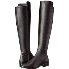 MICHAEL Michael Kors Bromley Flat Boot Women's Zip Boots ($275) ❤ liked on Polyvore featuring shoes, boots, botas, over-the-knee boots, over knee boots, platform boots, block heel knee high boots, flat thigh high boots and over the knee platform boots