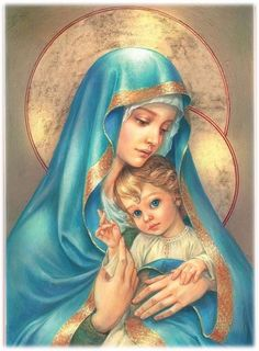 The Virgin Mary DIY Full Drill Round Diamond Embroidery Jesus Christ Diamond Painting Mosaic Stickers Cross Stitch Jesus Mother, Blessed Mother Mary, Blessed Virgin Mary, Baby Jesus, Catholic Art, Religious Art, La Madone, Queen Of Heaven, Mary And Jesus