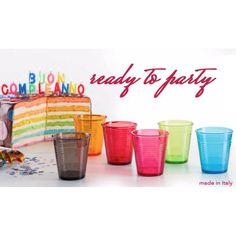 Bicchieri colorati indistruttibili riutilizzabili da 35 cl 6 pezzi Italy Food, Tableware, How To Make, Fitness, Italian Foods, Dinnerware, Dishes, Excercise, Health Fitness