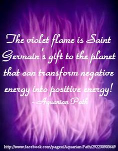 The Violet Flame http://www.soulfulheartreadings.com/spirituality-information/the-violet-flame/  ~☆~