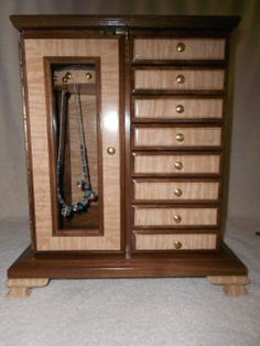Special  Handcrafted solid wood Black Walnut & Curly by Purrwoof, $650.00